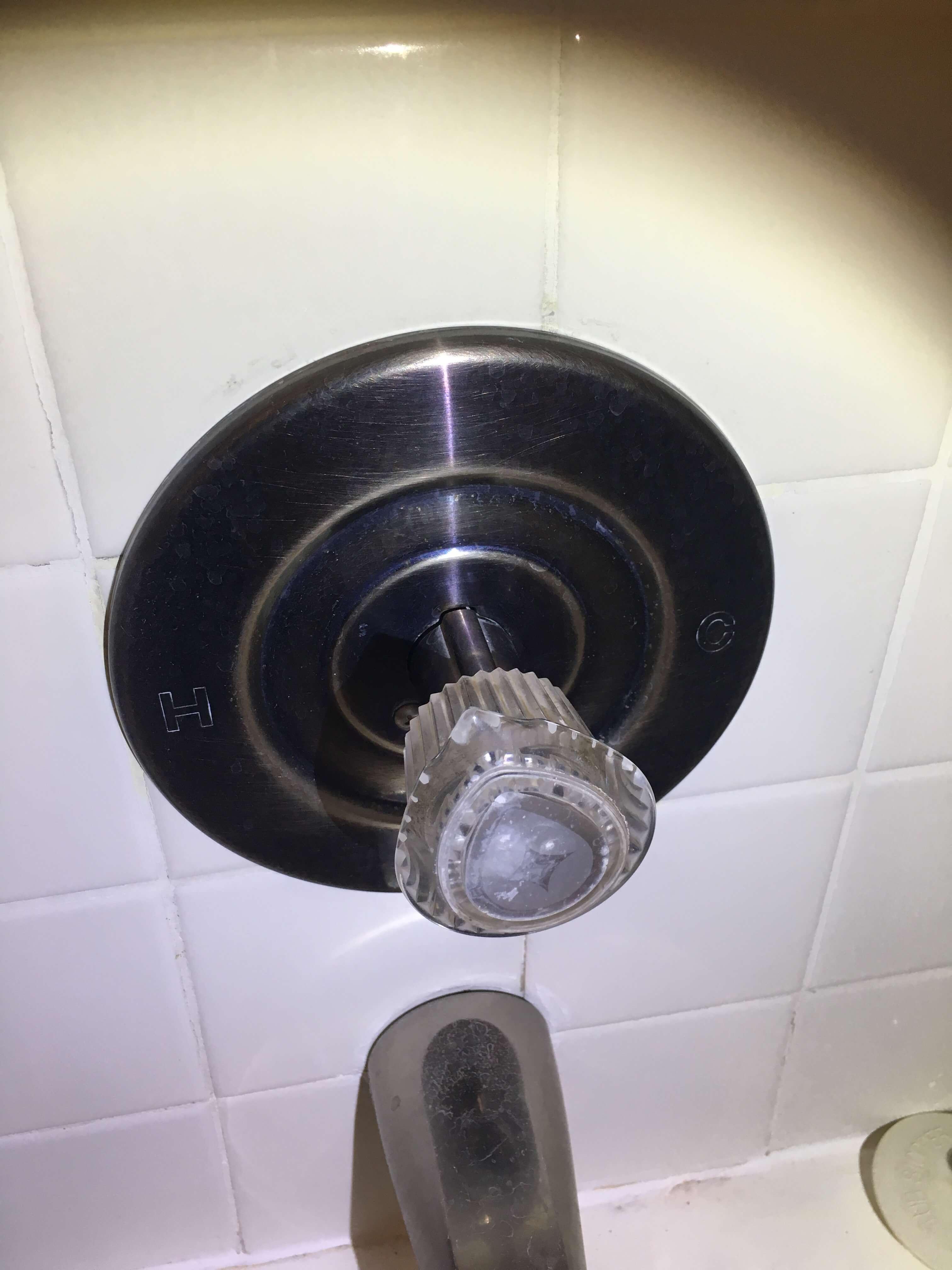 Plumbing Leak In Wall Behind Pushpull Bathtub Faucet