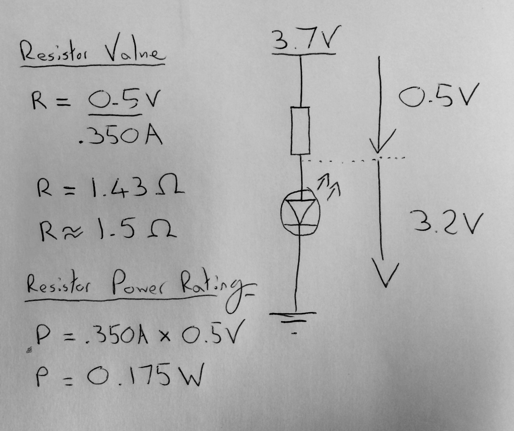 hight resolution of current limiting resistor calculations