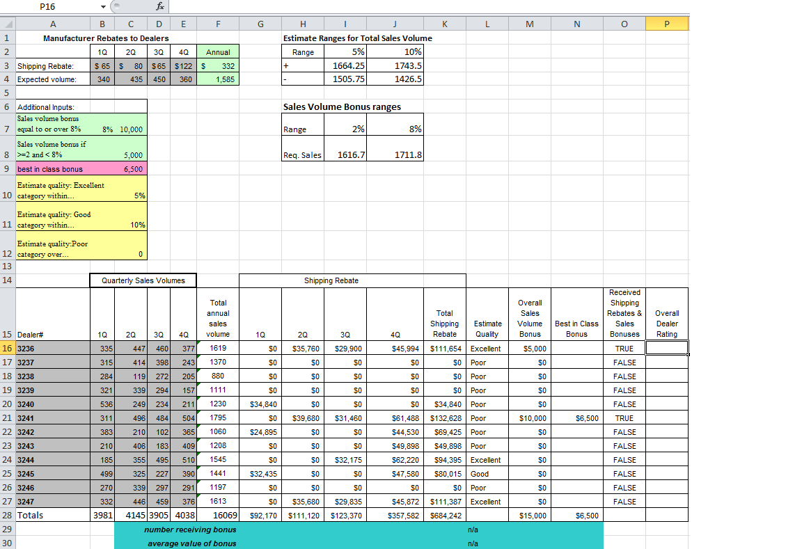 Excel Classifying Based On Satisfying Requirements