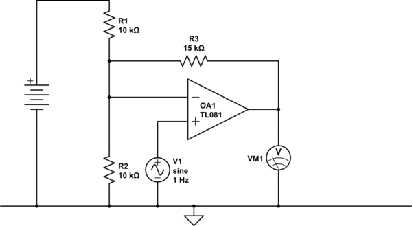 voltage differential op amp circuit explanation electrical