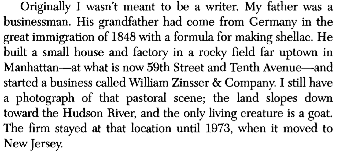 Font in 'On writing well' (25th anniversary edition) by