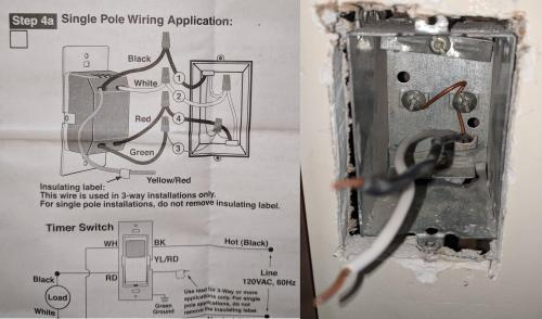 small resolution of leviton vizia 24 hr timer how do i install home improvement four wire diagram for wiring a timer