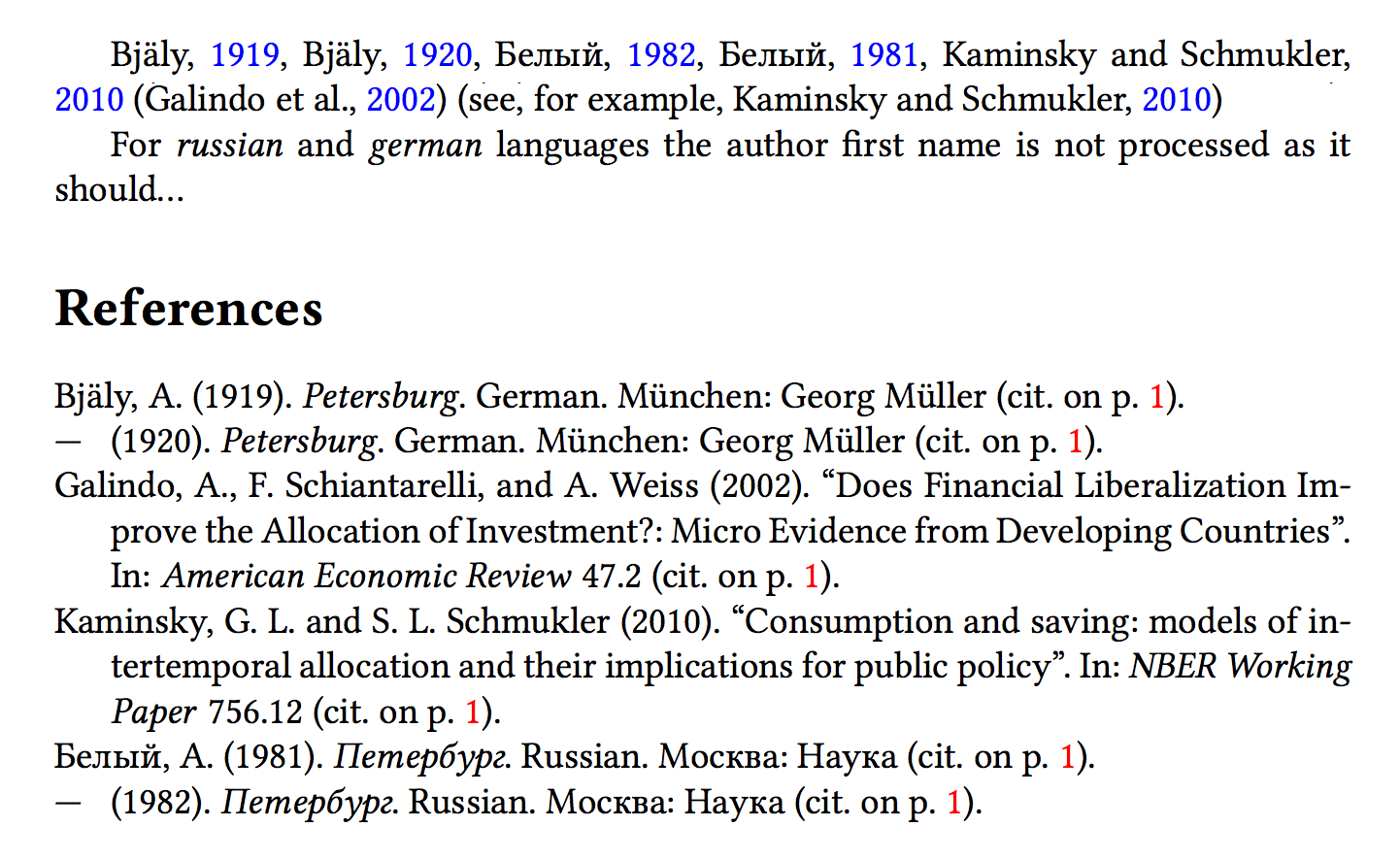Xetex Cyrillic Bibliographic Entry Using Biblatex And