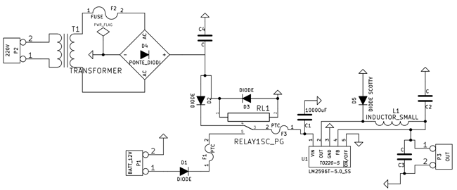 Ups Electrical Ledningsdiagram
