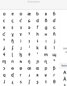 Character palette also keyboard how do  type with ipa international phonetic alphabet rh appleackexchange