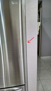 frigidaire kitchen package chalkboard wall how can i prevent my refrigerator door from hitting the ...