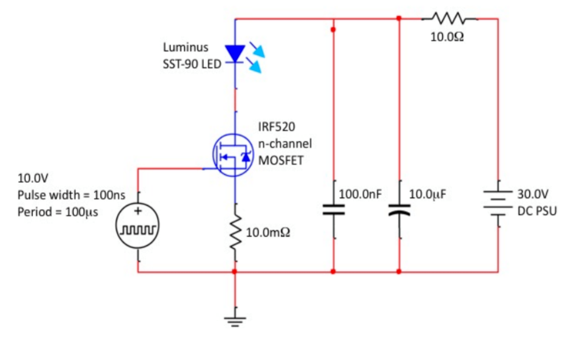 10 watt led driver circuit diagram porsche wiring symbols high power pulsed driving electrical