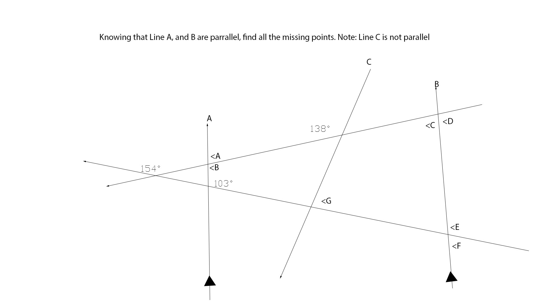 Using Angle Pairs And Geometry Find All The Missing