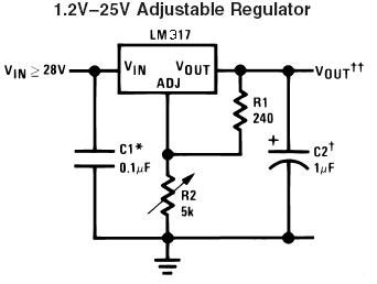Simple LM317 variable voltage supply, does it limit