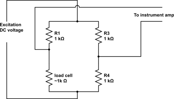 load cell amplifier circuit schematic