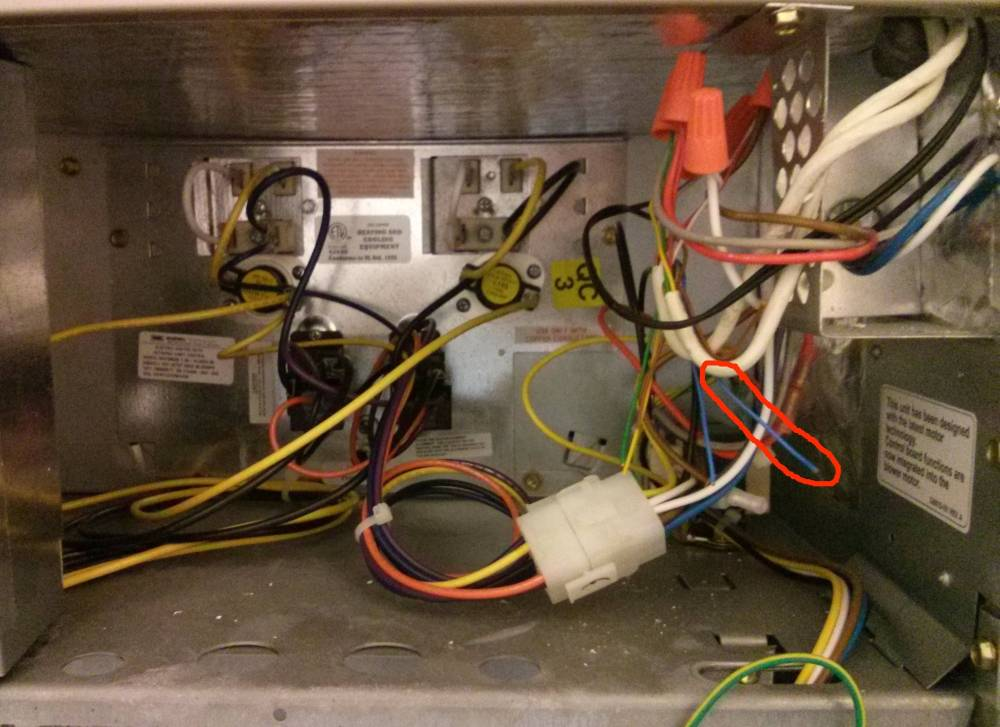 medium resolution of wiring how do i connect the common wire in a carrier air handler a light switch wiring common furnace wiring
