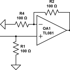 Circuit Diagram Of Non Inverting Amplifier 1978 Evinrude 70 Hp Wiring Op Amp Why Does Input Schematic