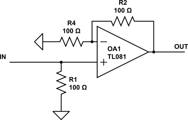 circuit diagram of non inverting amplifier rotork profibus wiring op amp why does input schematic