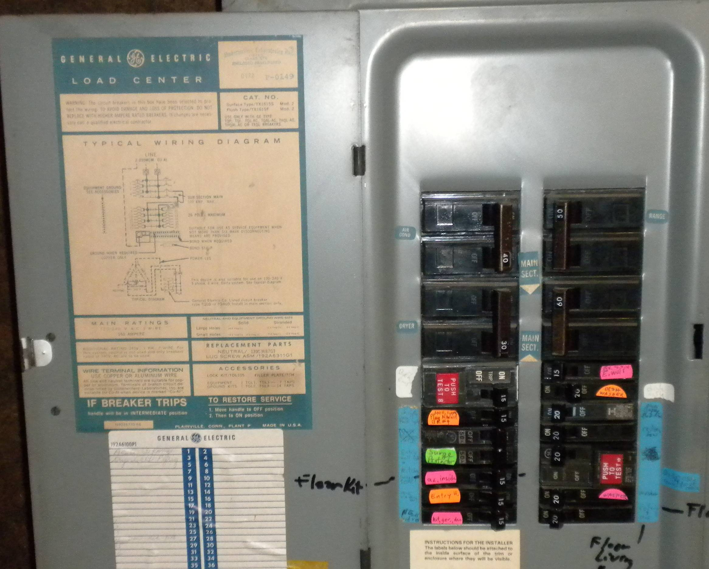 ge sub panel wiring diagram 1999 ford f350 7 3 subpanel installing a to split bus