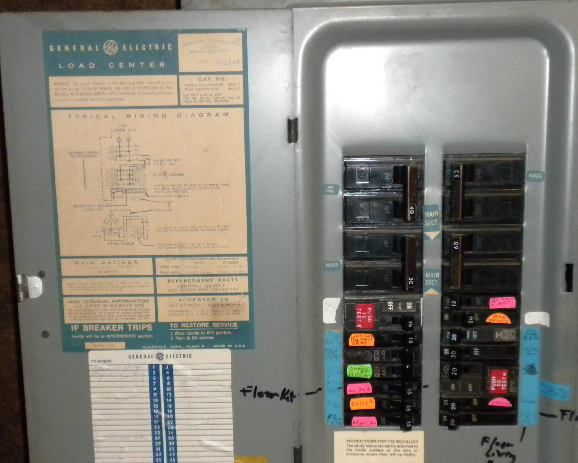 hight resolution of subpanel installing a sub panel to a ge split bus panel home wiring a ge sub panel