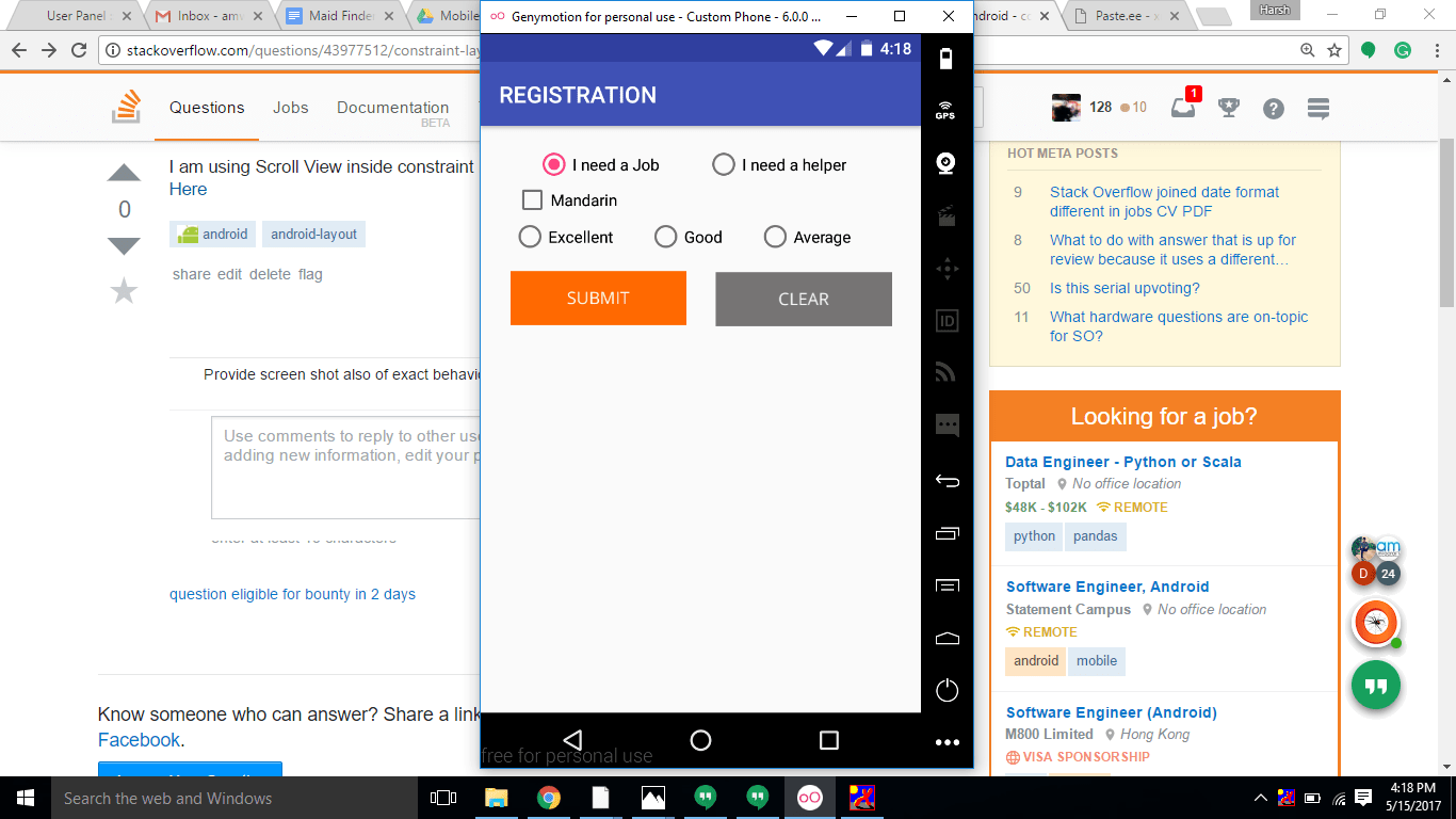 android - constraint layout inside scrollview white space at bottom? - Stack Overflow