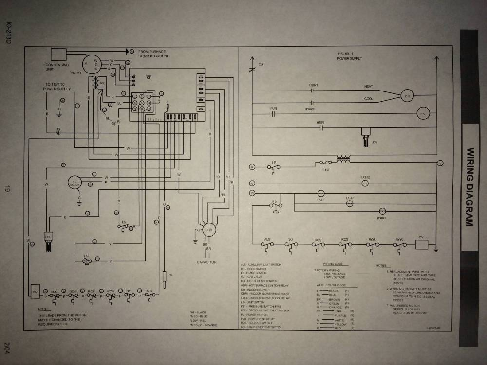 medium resolution of  no c wire connection on old goodman furnace home improvement stack goodman manufacturing wiring diagrams