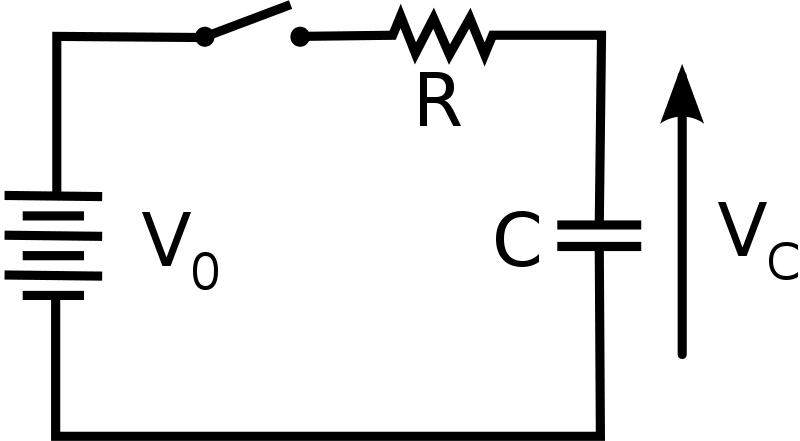 battery a circuit diagram of an rc circuit looks like this