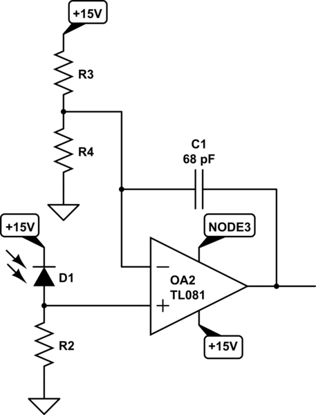 Negative feedback capacitor in Op-Amp comparator circuit