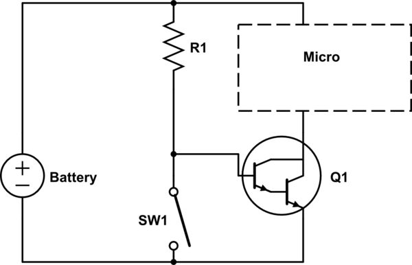 microcontroller detecting open circuit very low power electrical