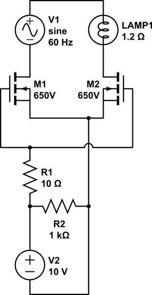 Disadvantages of MOSFET over Triac for line voltage