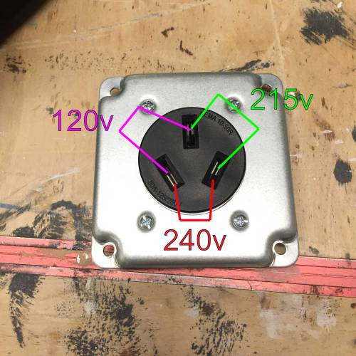 small resolution of 240v outlet with 120v and 215v how