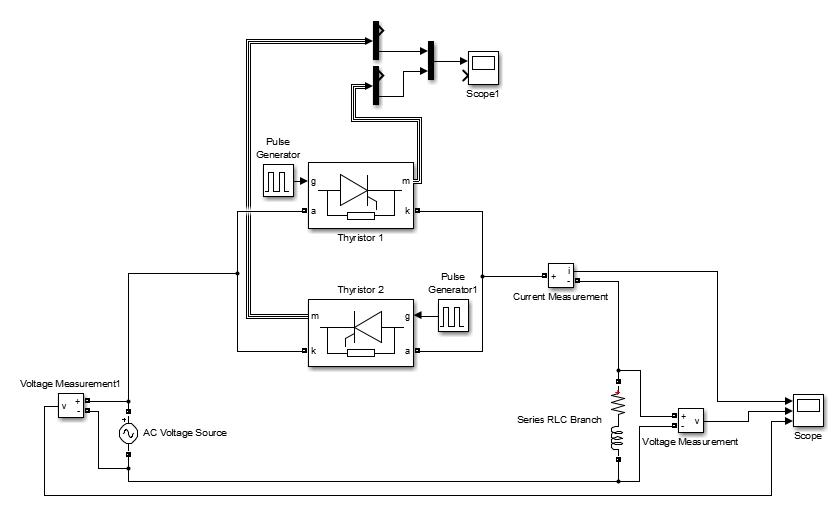 Thyristor Voltage Regulator With Different