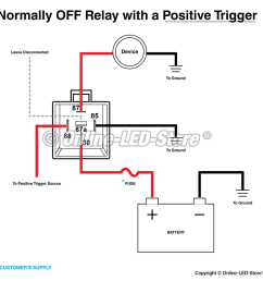 relay normally on circuit with positive trigger electrical normally off circuit [ 1116 x 1153 Pixel ]