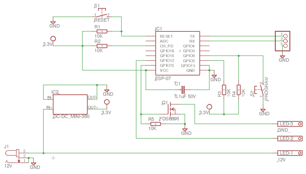 medium resolution of here is schematic esp8266 led white and rgb