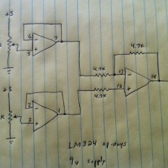 Circuit Diagram Of Non Inverting Amplifier 2001 Nissan Frontier Ignition Wiring Op Amp Subtracting Two Voltages Using An