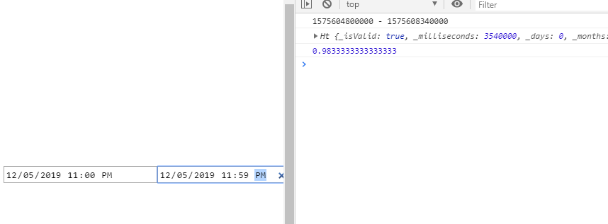 javascript - moment js two datetimepicker time comperison - Stack Overflow
