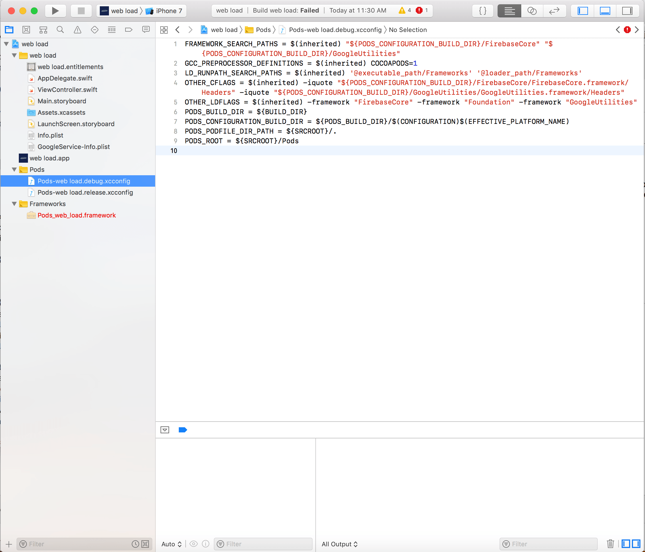 ios - linker command failed with exit code 1 (use -v to see invocation) xcode firebase - Stack Overflow