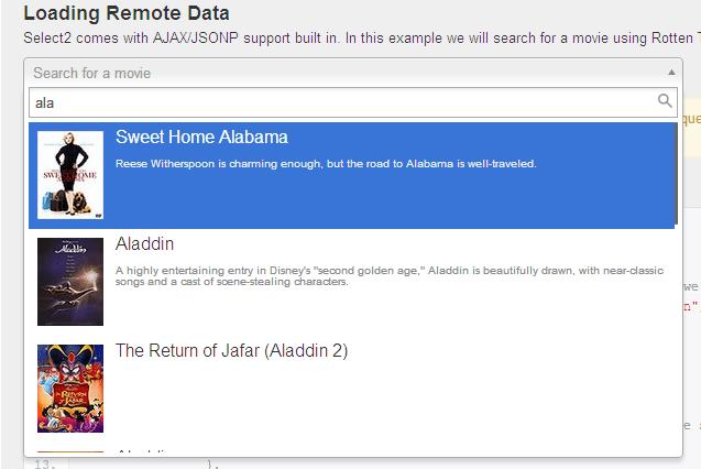 Select2 Ajax Example