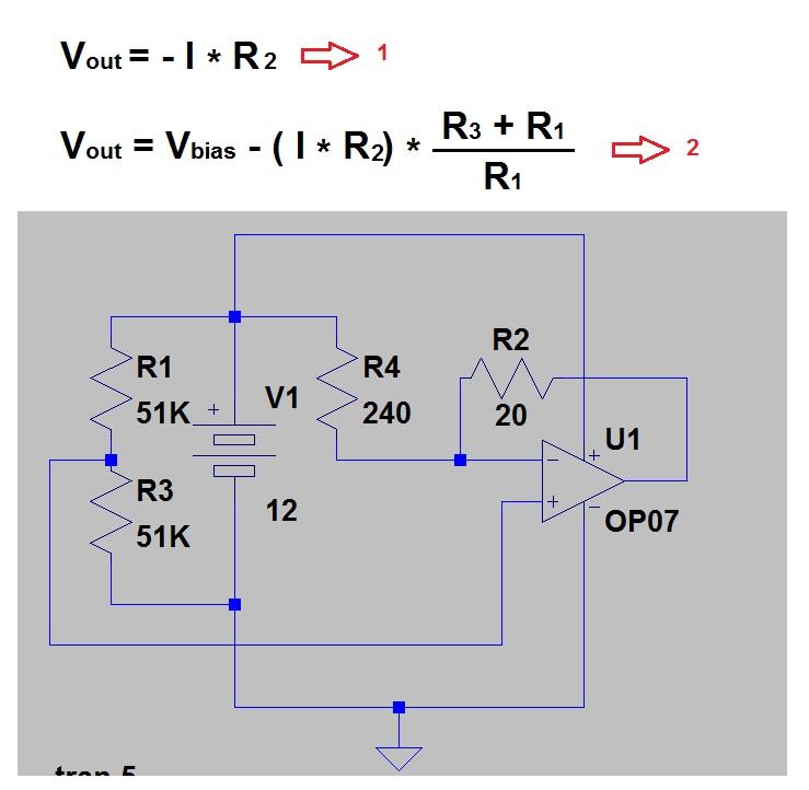 Current To Voltage Converter Op Amp Circuit