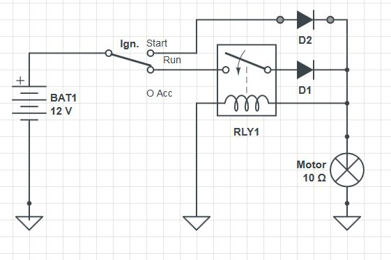 car Ignition switch relay maintain closed after remove