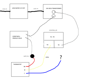 wiring  Where to connect Cwire on old furnace (diagram