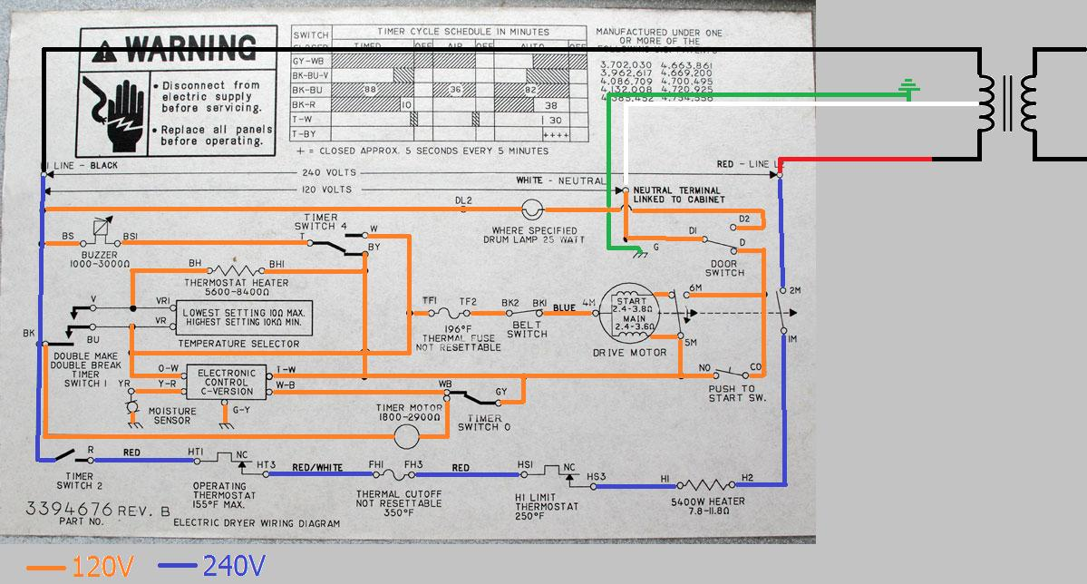 120v receptacle wiring diagram uk telephone plug electrical - can a dryer be wired without neutral? home improvement stack exchange