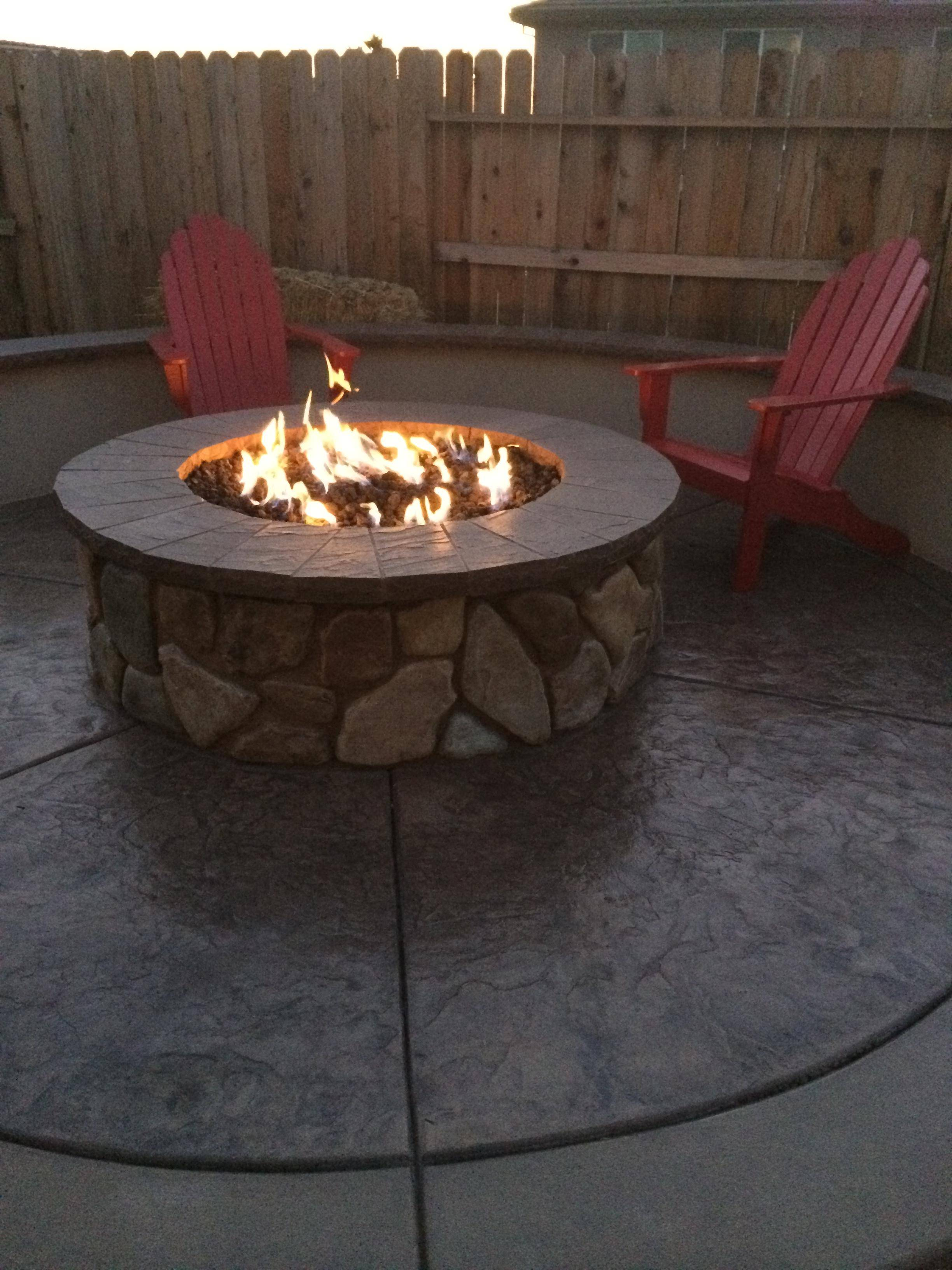 fireplace  How can I get my gas fire pit to have a larger