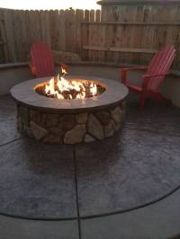 fireplace - How can I get my gas fire pit to have a larger ...