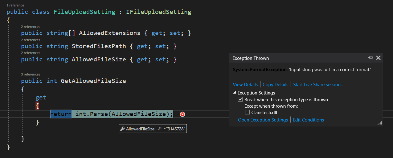 c# - FormatException int.Parse() even when passing correct format string value - Stack Overflow