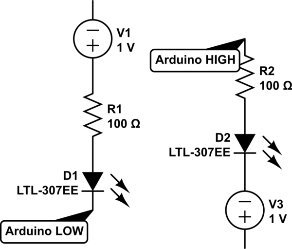 Controlling RGB LED (common anode) with Arduino