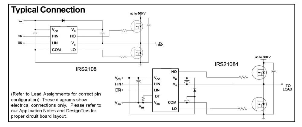 medium resolution of irs21084 half bridge driver