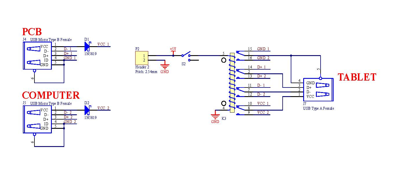 usb circuit schematic