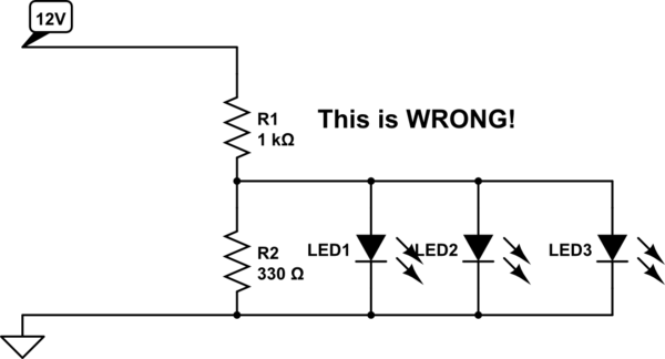 Automotive I'm Trying To Use 3v LEDs In A 12V Circuit In My Car