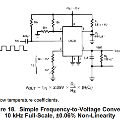analysis using an lm331 as a frequency to voltage converter how voltage to frequency converter circuit diagram super circuit diagram [ 1040 x 873 Pixel ]