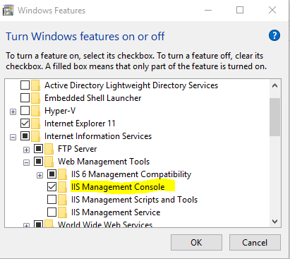 IIS Manager in Windows 10  Stack Overflow
