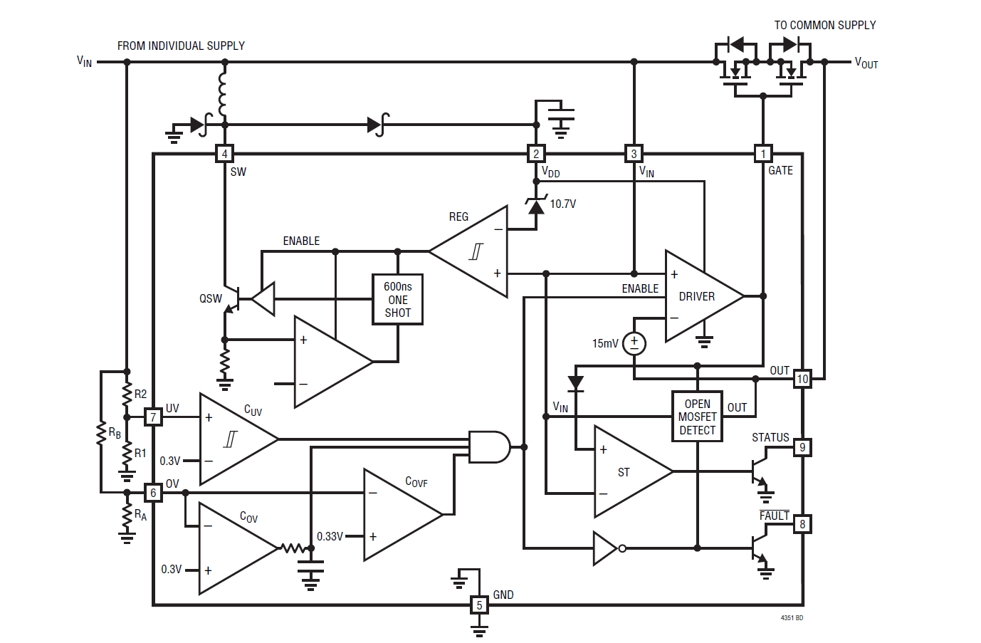 Does Mosfet Let Current Flow Through Source To Drain As It