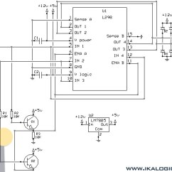 L298 H Bridge Circuit Diagram 1970 John Deere 140 Wiring 24v Dc Motor Why Voltage Drop To 3v If Connected Schematic