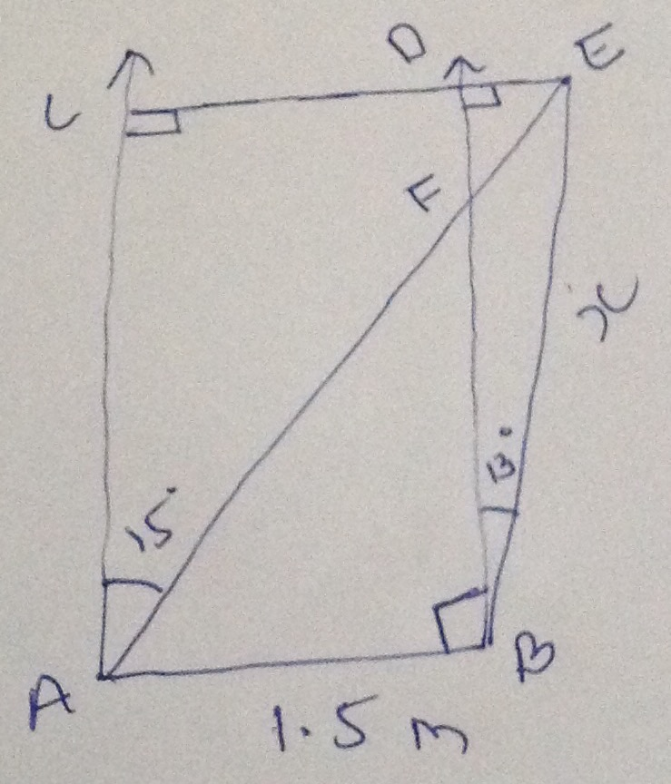 Trigonometry with quadrilateral and triangles