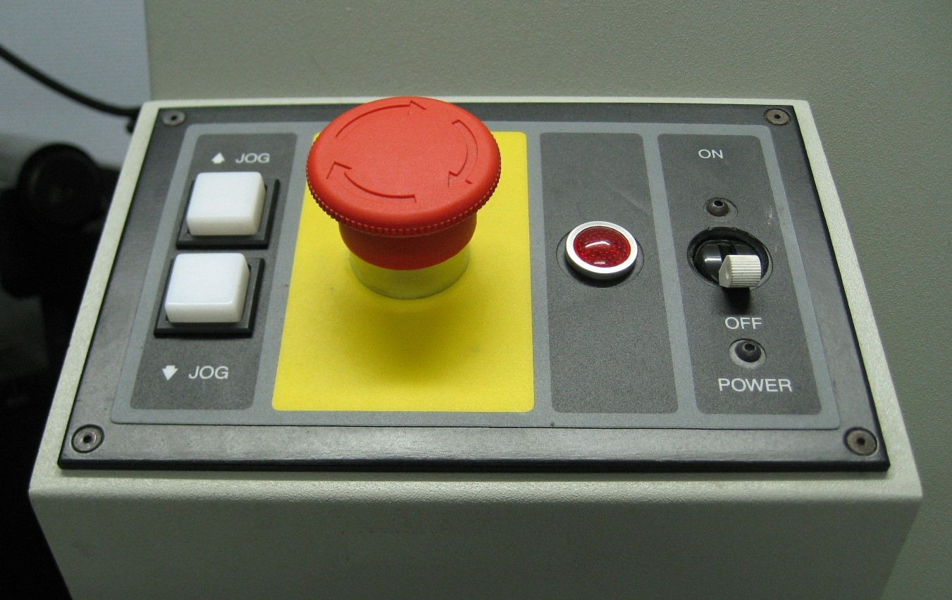 hight resolution of big red button